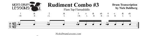 drum tutorial flam rudiment combo 3 flam tap flamadiddle nick s drum lessons