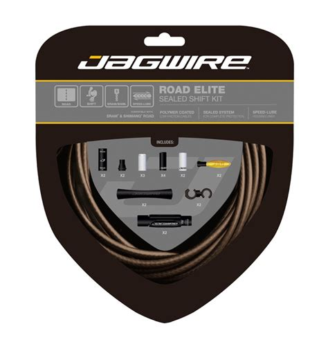 Sealed With A Sts by Jagwire Road Elite Sealed Gear Cable Kit Sts Lf Coated