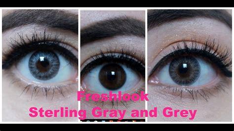 freshlook color blends freshlook colorblends grey sterling gray on