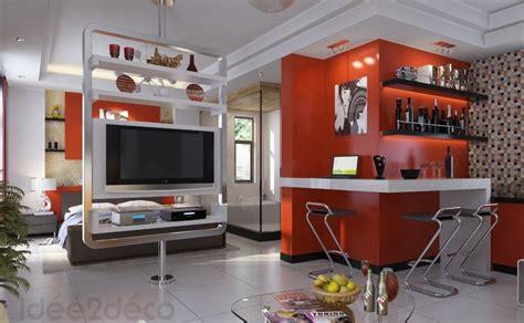 studio decoration une d 233 co moderne pour un petit studio