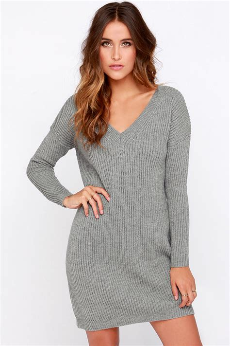 Sweater Dressed grey dress sweater dress sleeve dress 38 00