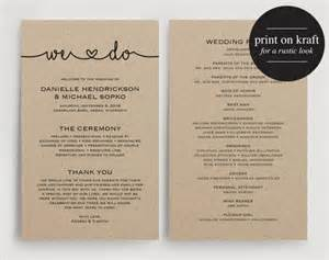 how to do wedding programs wedding programs instant printable template printable wedding program wedding