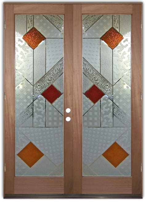 Glass Designs For Doors Matrix 3d Iii Etched Glass Doors Modern Design Style