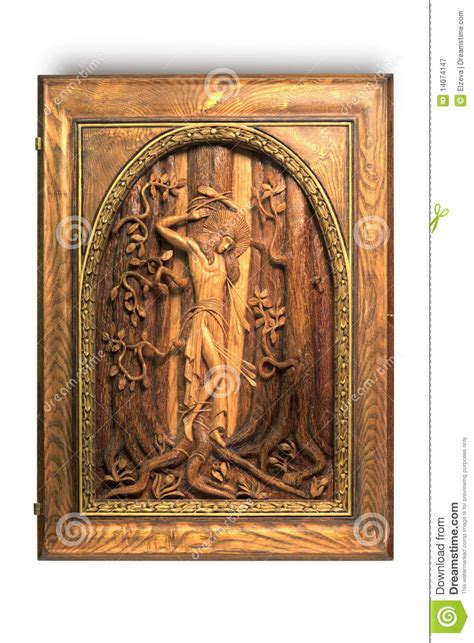 St Handmade - wooden picture sebastian royalty free stock