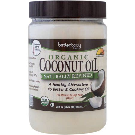 coconut oil walmart section betterbody foods naturally refined organic coconut oil 28