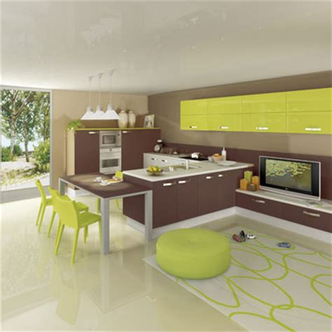 cuisine verte et marron d 233 co cuisine vert marron