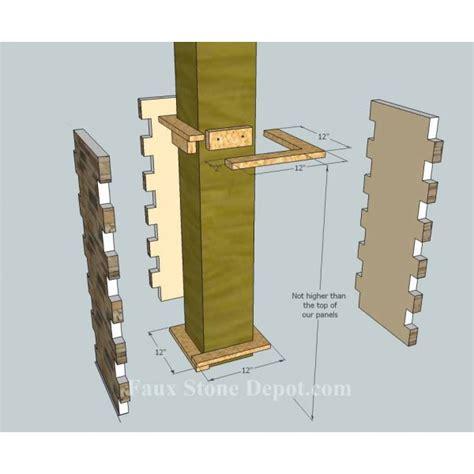 Interior Column Wrap Kits by Faux Column Wrap 36 Quot Sand