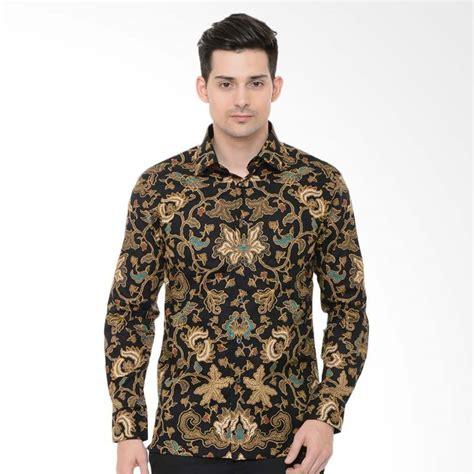 Kemeja Alisan Kombinasi Lengan Panjang Motif Baru 2 jual alisan panjang kemeja batik pria coklat