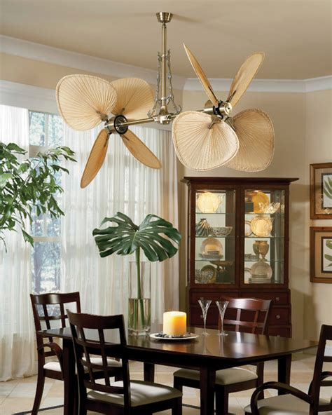 ceiling fan in dining room palisade ceiling fan from fanimation tropical dining