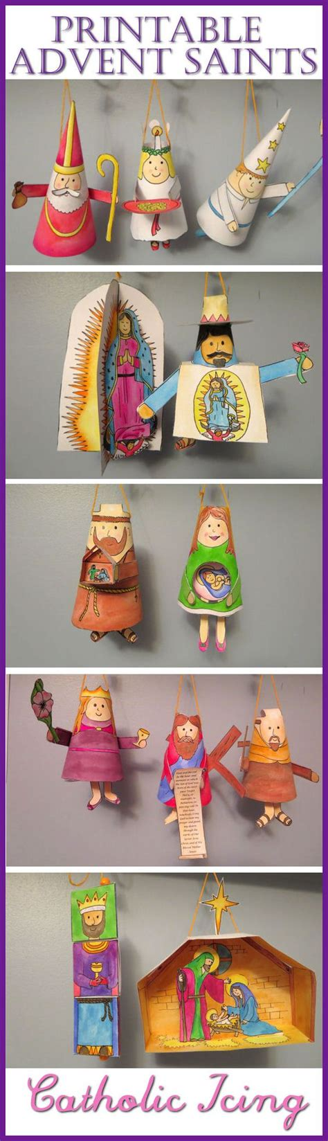 catholic craft projects advent ornament crafts and saints on