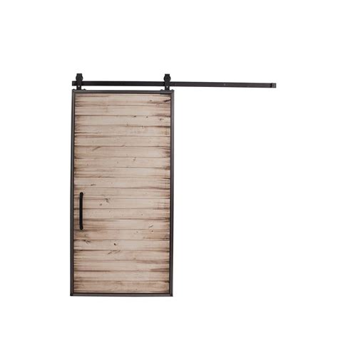 Barn Door Home Depot Rustica Hardware 42 In X 84 In Mountain Modern White Wash Wood Barn Door With Mountain Modern