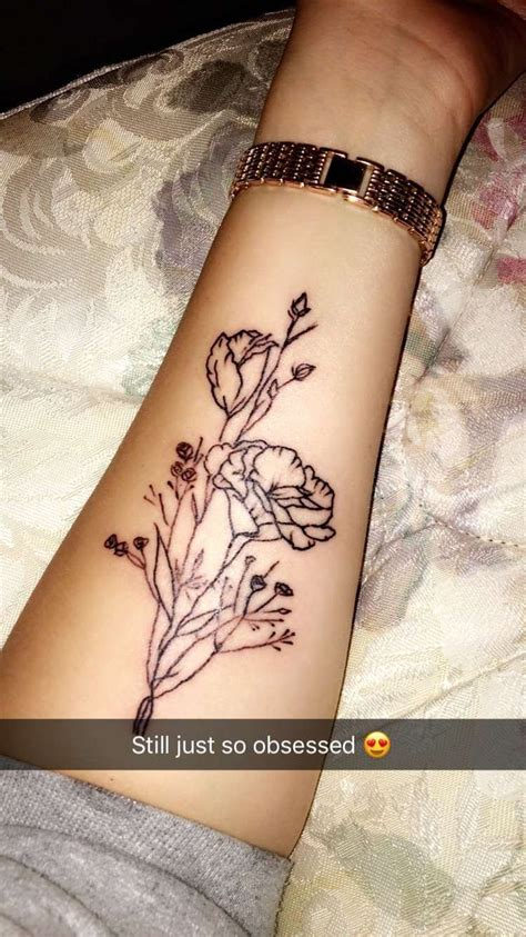 simple forearm tattoos simple floral forearm placement symbol