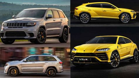 lamborghini jeep urus vs grand cherokee trackhawk closer than you think