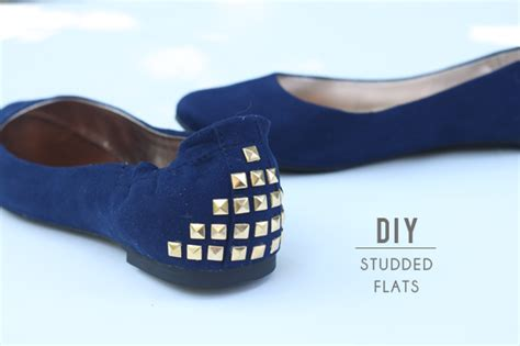 diy studs on shoes with an i e diy studded flats