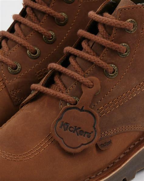 Kickers S P Brown kickers kick hi boots brown shoe chunky mens