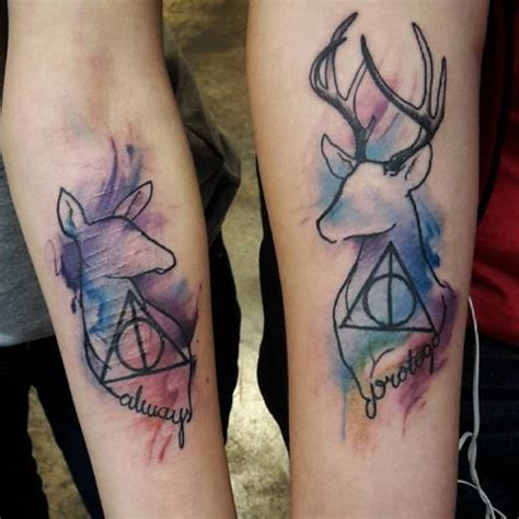harry potter deer tattoo to start the year i want to