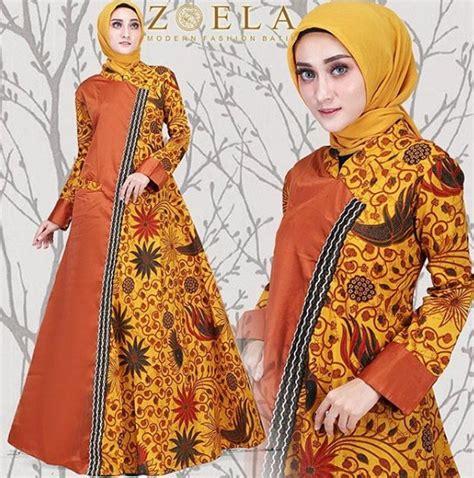 model baju batik kombinasi remaja wanita  model