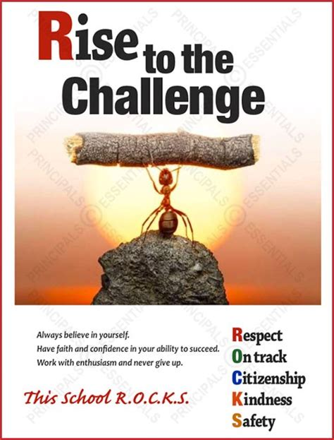poster challenge rise to the challenge poster
