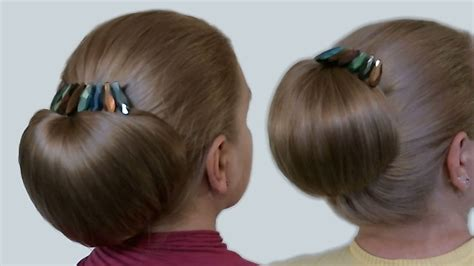 step by step directions for styling short hair updo hairstyles bun with hair bow for long hair