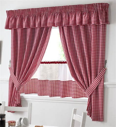 red and white gingham kitchen curtains red valances kitchen curtains you ll love wayfair kitchen