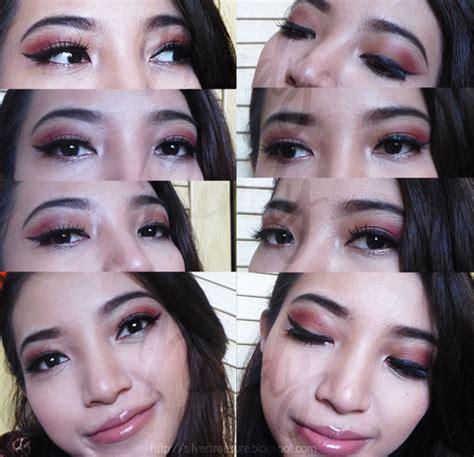tutorial eyeliner silkygirl fotd nude maroon makeup tutorial silver treasure