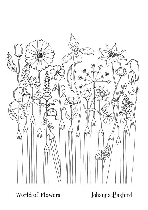 World of Flowers Johanna Basford Colouring Competition