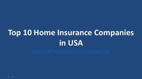 top 5 homeowners insurance companies usa