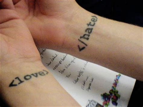 tattoo love messages love hate text tattoo message sheplanet