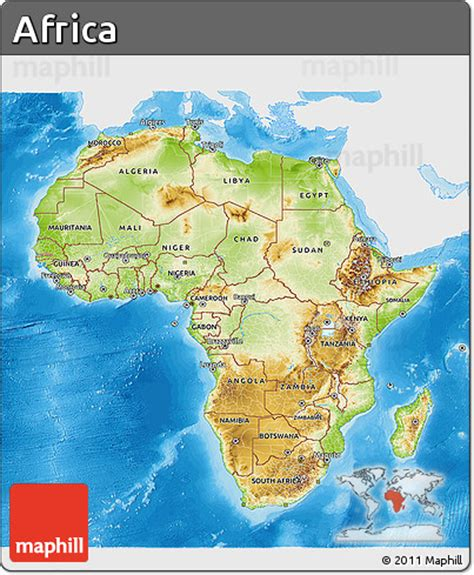 africa map sea free physical 3d map of africa single color outside
