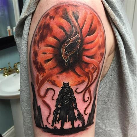 blood moon tattoo 8 best bloodborne images on bloodborne