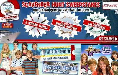 Www Disney Channel Com Sweepstakes - disney channel scavenger sweepstakes letmeget com