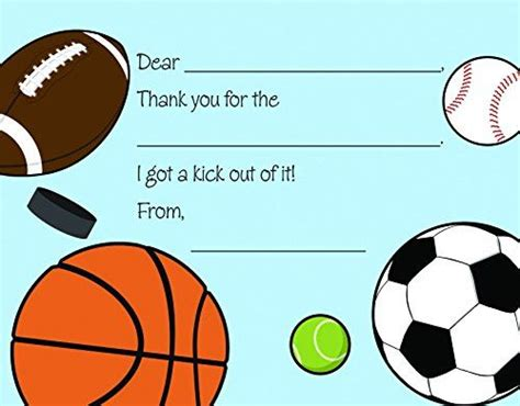 Sports Thank You Card Template by 719 Best Images On Anniversary