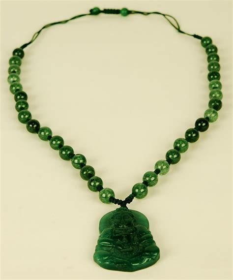 Pendant Carving Quwanyin carved green jade kwan yin necklace guanyin jewelry pendant amulet gift ebay