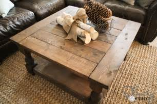 How To Build A Square Coffee Table Diy Square Coffee Table Shanty 2 Chic