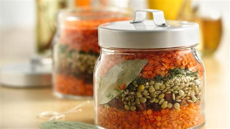 layered lentil soup in a jar life made delicious