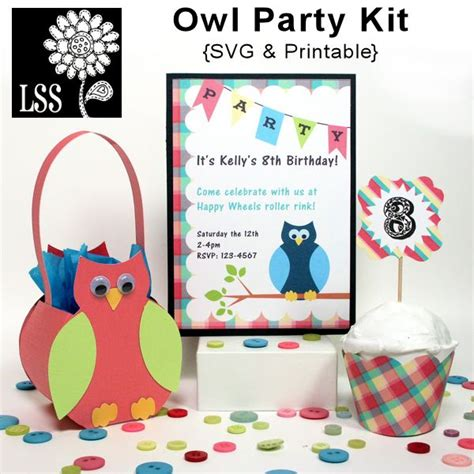 owl printable party kit 1000 images about svg files to download on pinterest