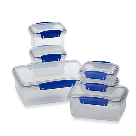 bed bath and beyond containers buy sistema 174 klip it 174 value pack lunch storage containers