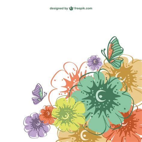 imagenes vectores de flores vector de tarjeta con flores de colores descargar