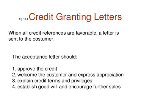 Letter Refusing Credit To Customer credit and collection letters