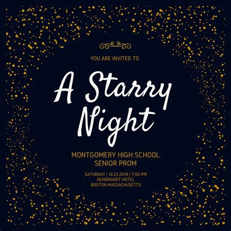 prom invite ideas golden starry night prom invitation lds prom pinterest