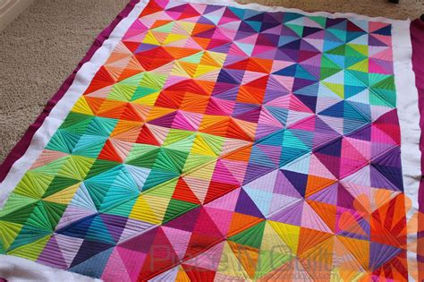 That Quilts by N Quilt Half Square Triangle Quilt Custom Machine Quilting By Bonner
