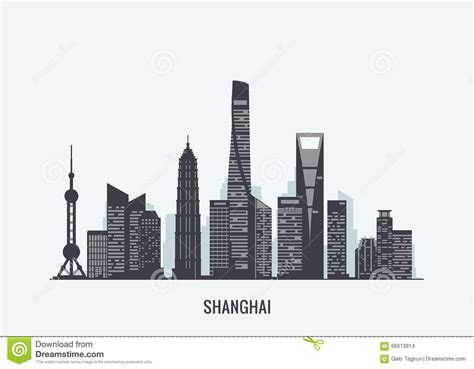 Shanghai Clip cityscape clipart shanghai pencil and in color cityscape