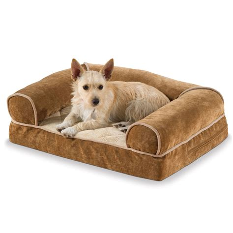 large dog sofas the heated dog sofa large hammacher schlemmer