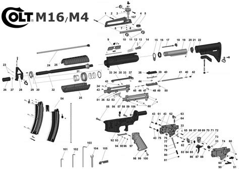 ar 15 parts diagram pdf m16 exploded view m16 guns exploded view