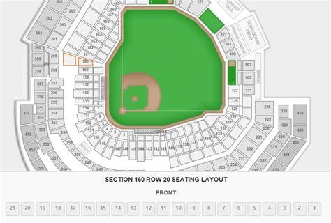 stl stadium seating chart detailed seating chart busch stadium st louis cardinals