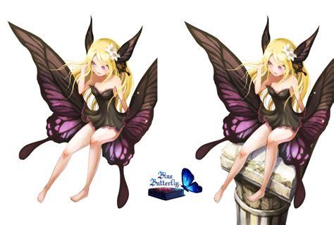 b rotische 5 anime butterfly render by butterfly blue b on