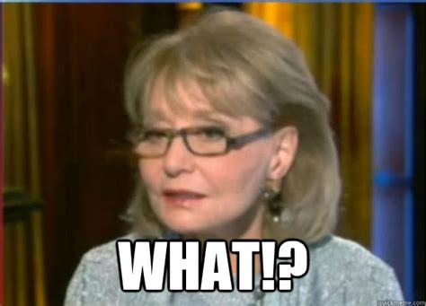 Barbara Meme - incredulous barbara walters memes quickmeme