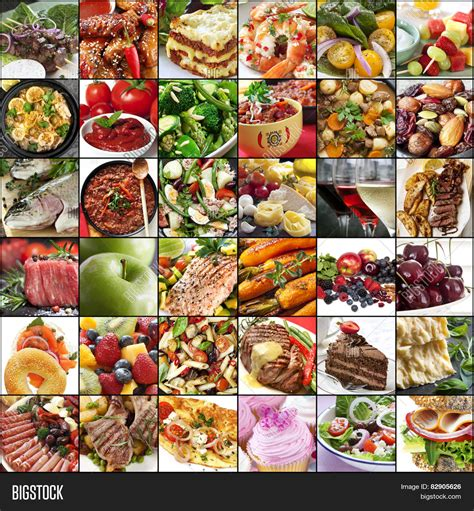 food images big collage food images variety image photo bigstock