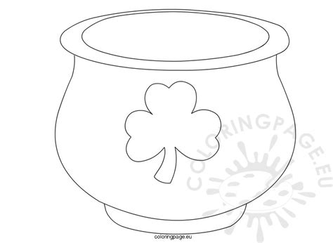 st patrick s day pot of gold template coloring page