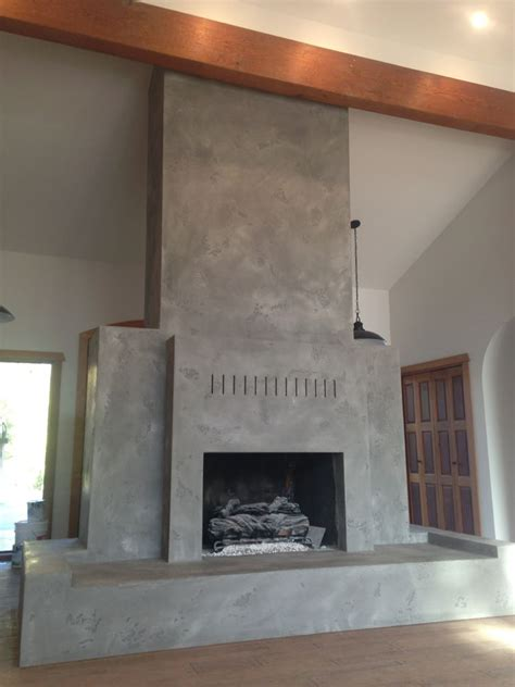 Plaster Fireplaces by Brick Fireplace Renovated To Grey Lime Plaster
